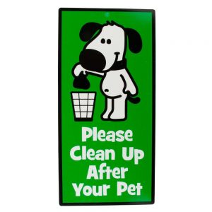 """Hillman """"Please Clean Up After Your Pet"""" Sign"""