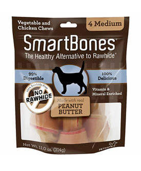 SmartBones Medium Peanut Butter Chews
