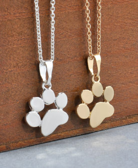 Footprints Paw Necklaces