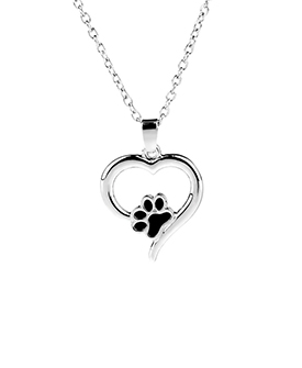 Hollow Pet Paw Print Necklaces